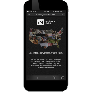 mobile phone showing ination web app